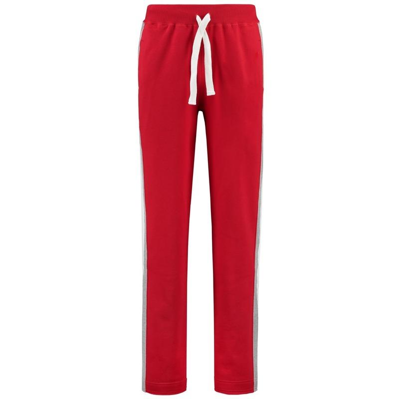 Joggingbroek-sportbroek rood met streep voor dames