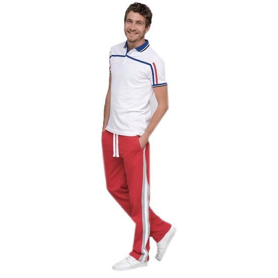 Joggingbroek-sportbroek rood met streep voor heren