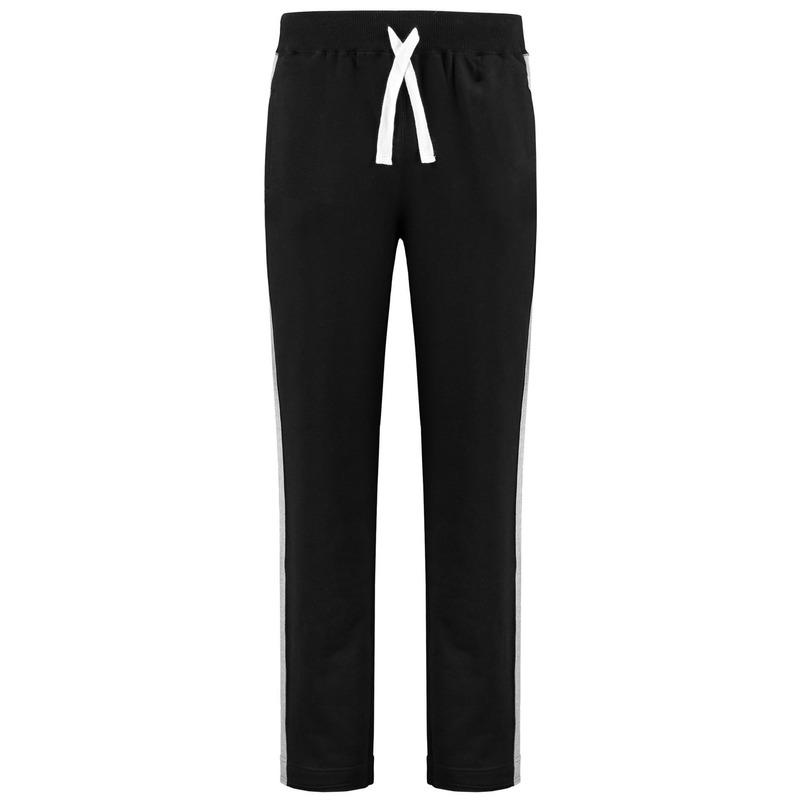 Joggingbroek-sportbroek zwart met streep voor dames