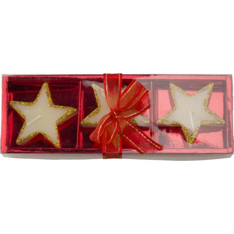 Feestartikelen diversen Geen Kerst kaarsen ster goud