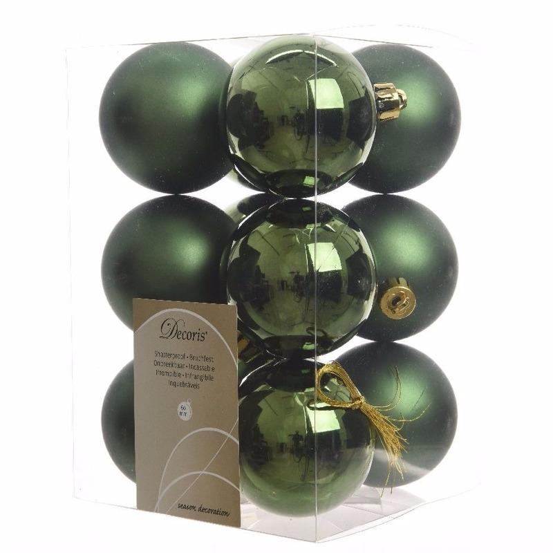 Kerstboomversiering groene ballen 6 cm
