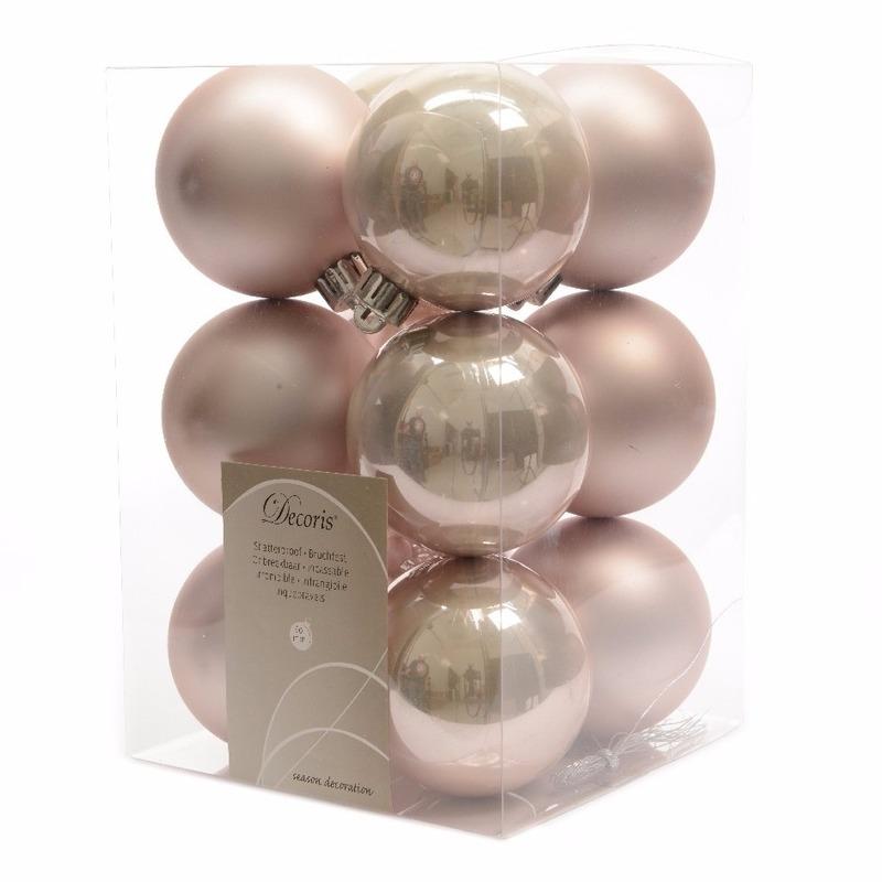 Kerstboomversiering roze ballen 6 cm