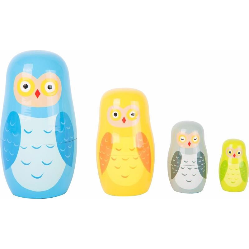 Kinderkamer decoratie uilen matroesjka set
