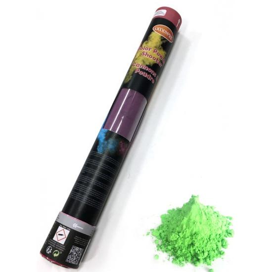 Feestartikelen diversen Kleurenpoeder shooter groen 40 cm
