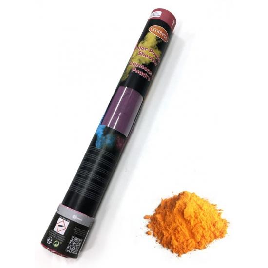 Feestartikelen diversen Geen Kleurenpoeder shooter oranje 40 cm