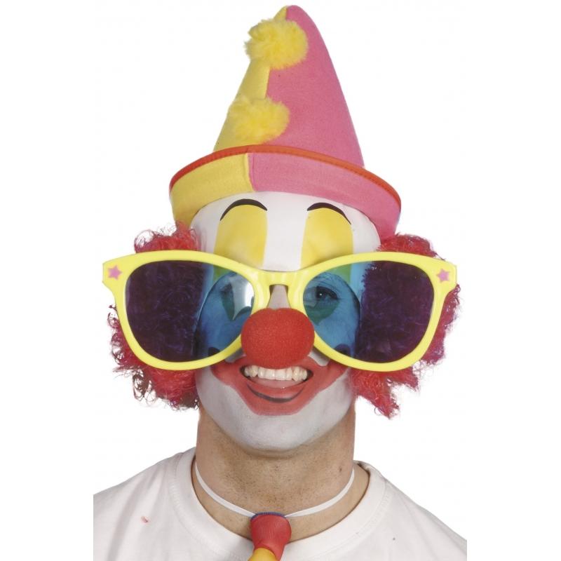 Kleurrijke grote zonnebrillen Clown