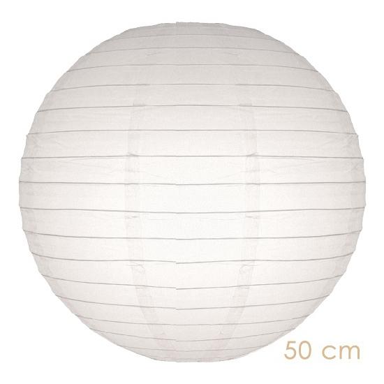 Feestartikelen diversen Geen Lampion 50 cm wit