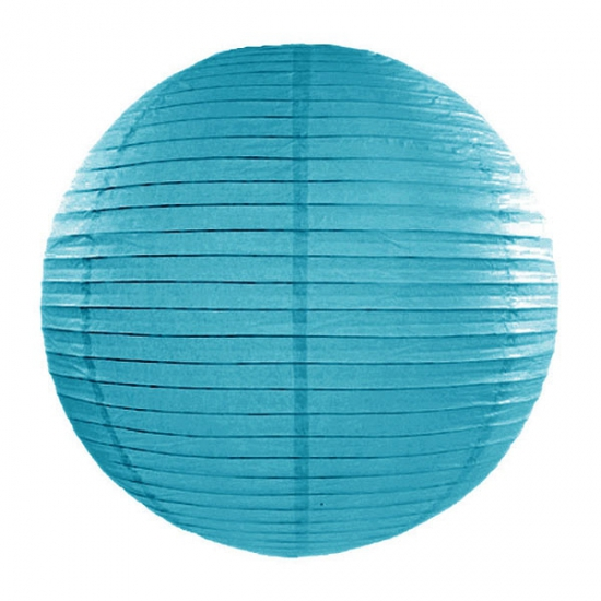 Feestartikelen diversen Lampion turquoise 35 cm