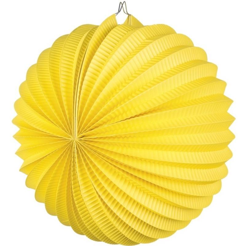Geen Lampionnen in het geel 22 cm Feestartikelen diversen