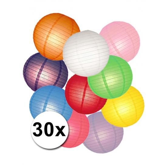 Feestartikelen diversen Shoppartners Lampionnen versiering set gekleurd