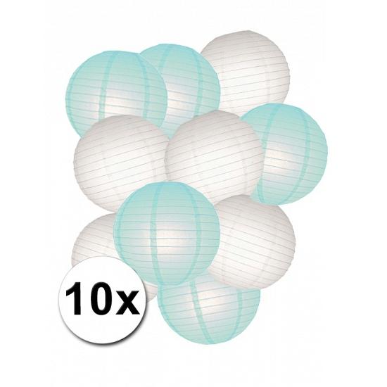 €1500000 wijzer in geldzaken Shoppartners Lampionnen versiering set mint wit