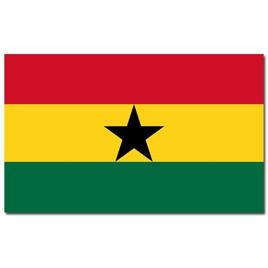 Landen versiering en vlaggen Landenvlag Ghana