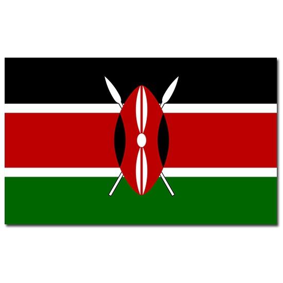 Geen Landenvlag Kenia Landen versiering en vlaggen