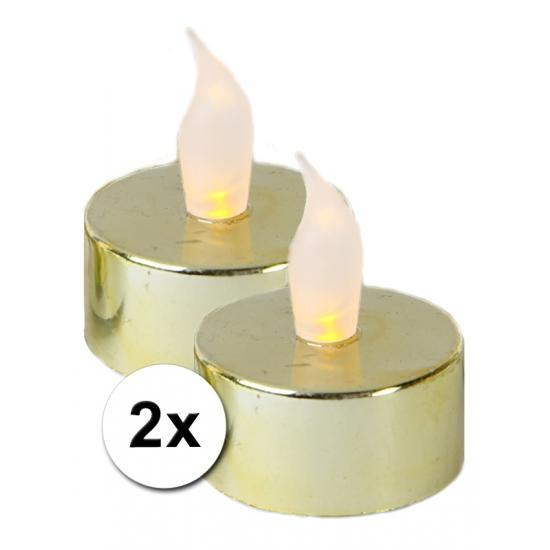 Woonaccessoires Geen Lichtjesavond gouden LED lampjes 2 x