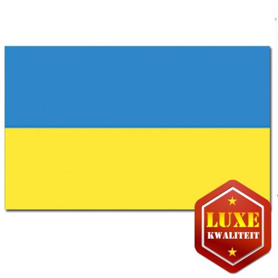 Landen versiering en vlaggen Geen Luxe kwaliteit Oekra nse vlag