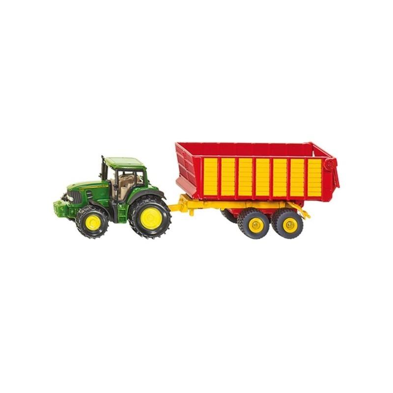Metalen groene speel tractor