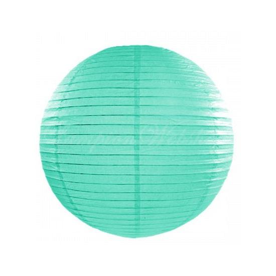 Feestartikelen diversen Geen Mint ronde lampion 25 cm