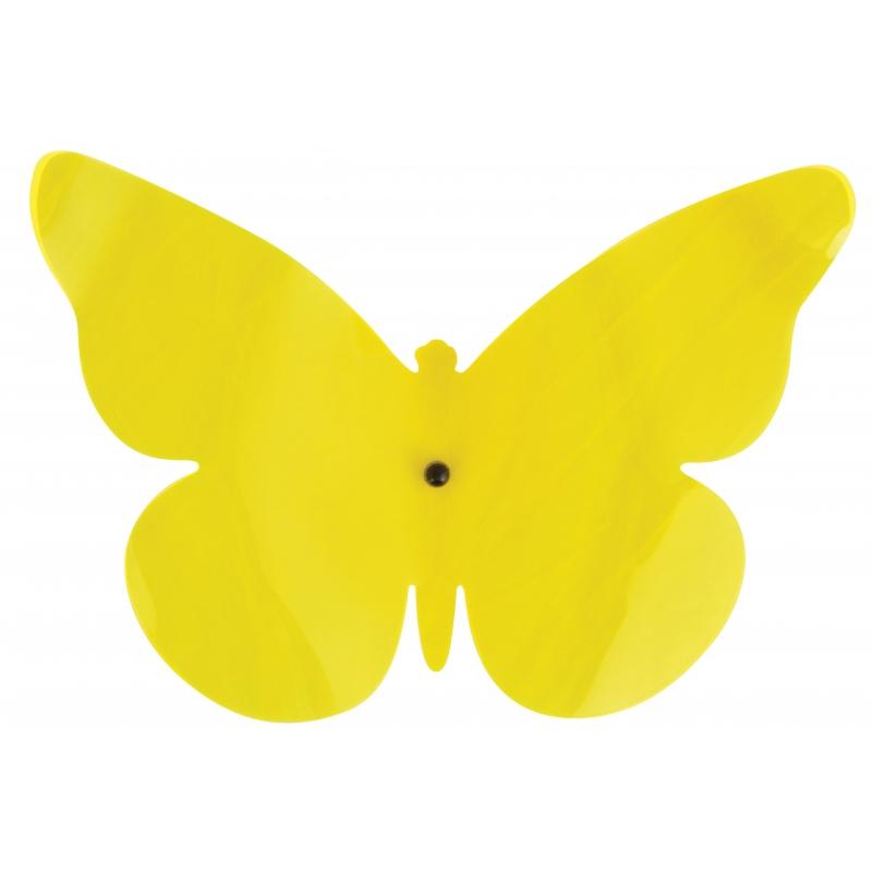 Muurdecoratie vlinder geel 25 cm