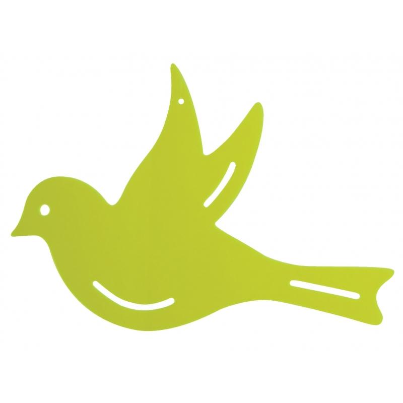 Muurdecoratie vogel groen 22 cm