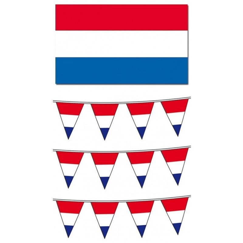 Landen versiering en vlaggen Nederlandse vlaggen pakket groot