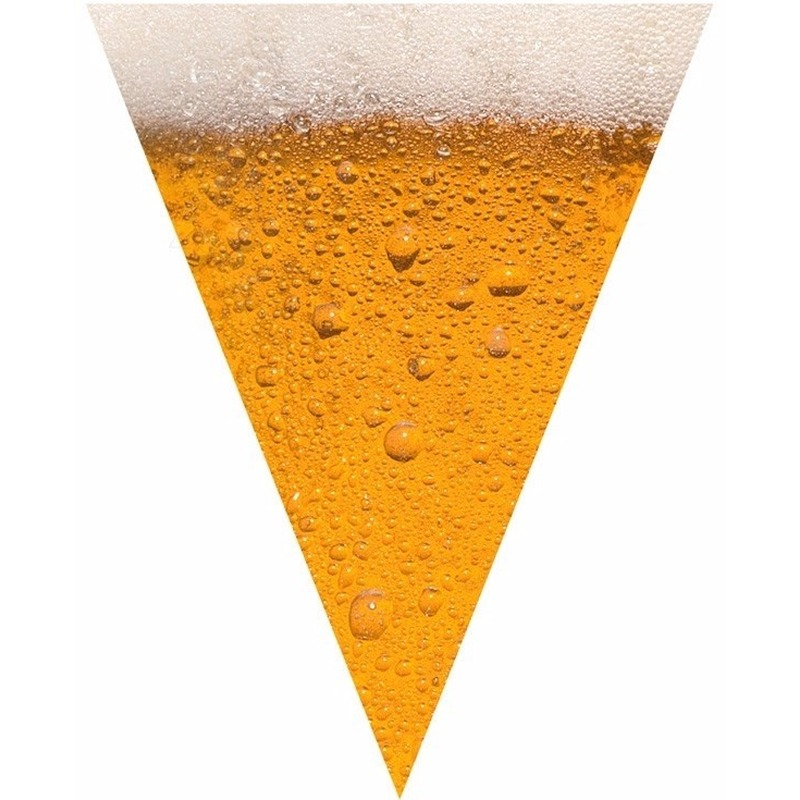 Oktoberfest Bier print vlaggenlijn-slinger 6,4 meter
