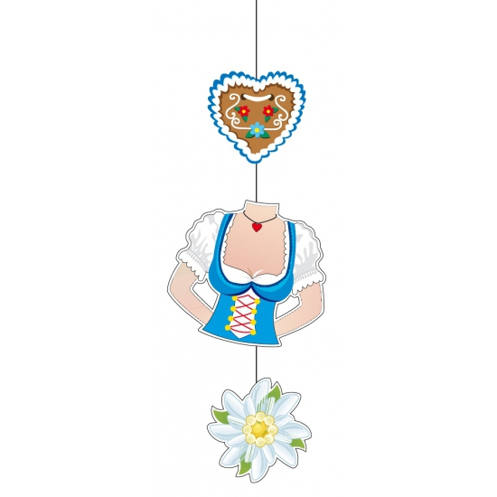 Oktoberfest dame torso decoratie 70 cm