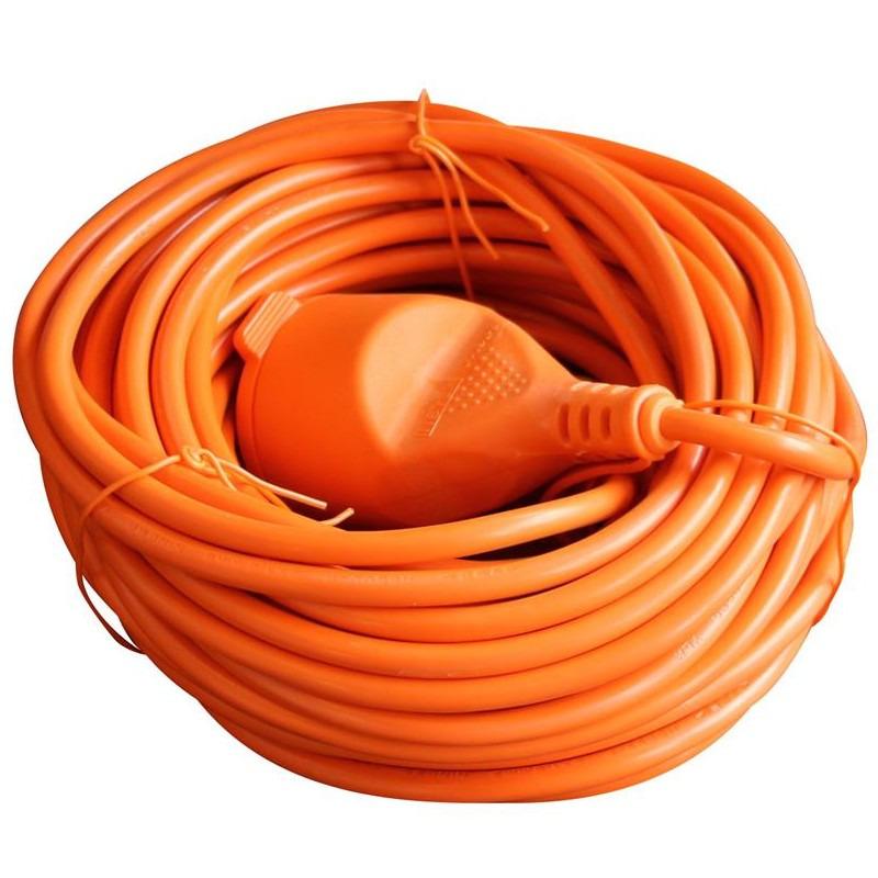 Oranje verlengsnoer-verlengkabel 20 meter 2X1,0mm met klep