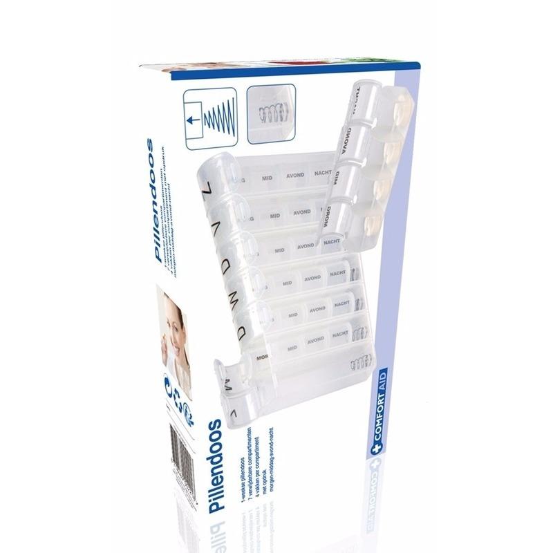 Pillen sorteer doos 7 dagen wit