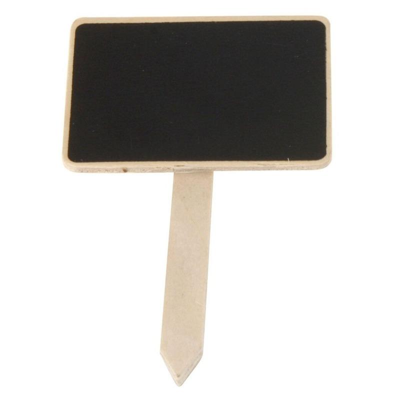 Plantensteker schoolbord-krijtbord op stokje 12 cm
