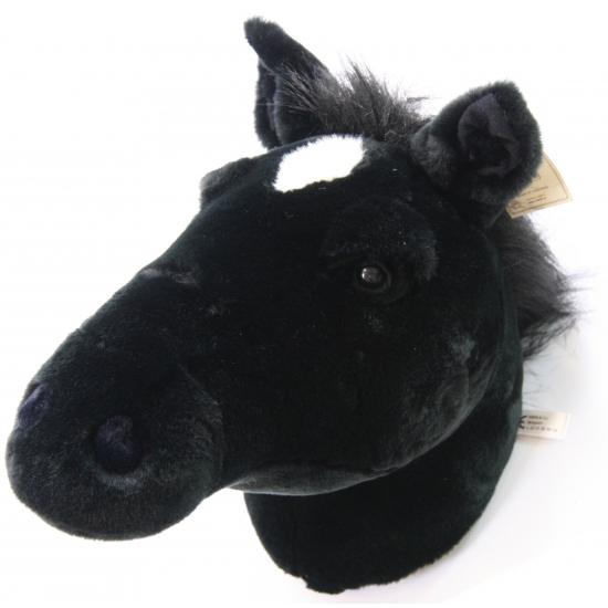 Pluche decoratie paardenhoofd