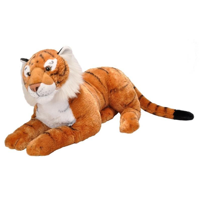 Pluche grote tijger knuffel 76 cm