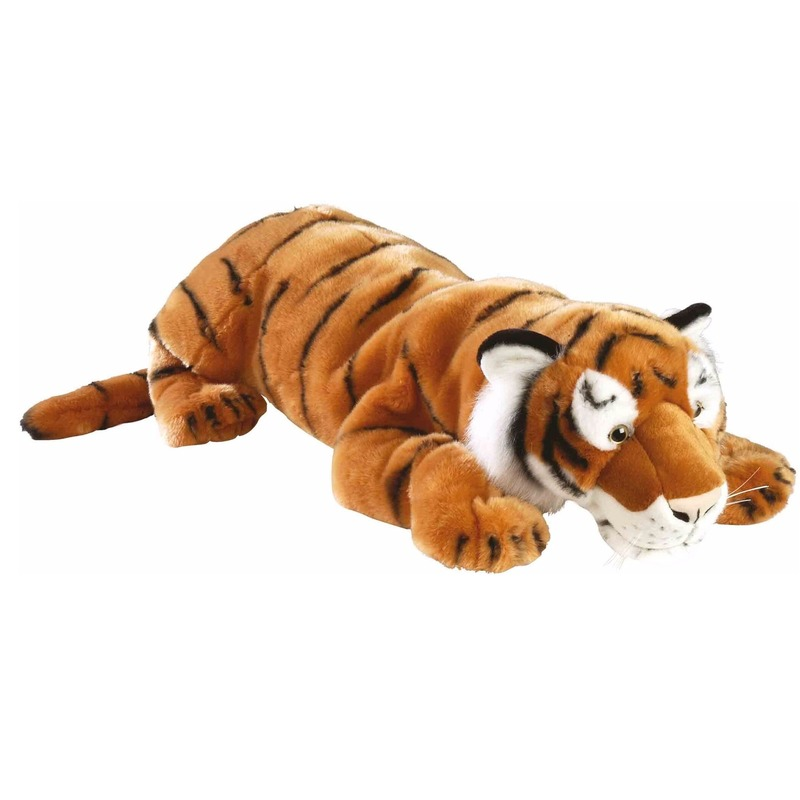 Pluche knuffeldier tijger 76 cm