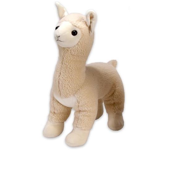 Pluche Lama-Alpaca knuffel 34 cm creme wit