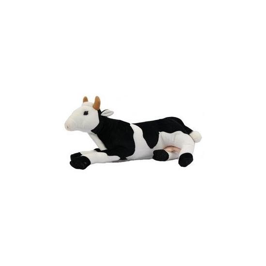 Pluche liggende koeien knuffel 35 cm