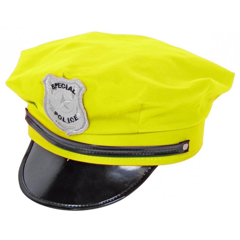 Politie petten neon geel
