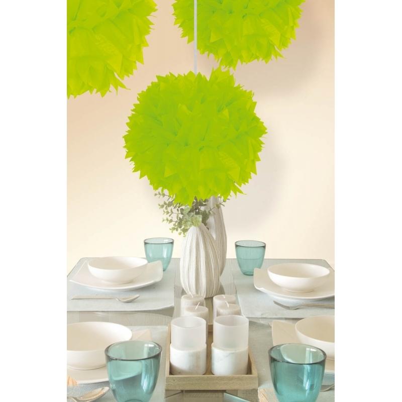 Kleuren versiering Geen Pompom bolletjes neon groen