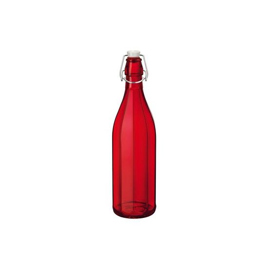 Rode decoratie flessen 1 liter