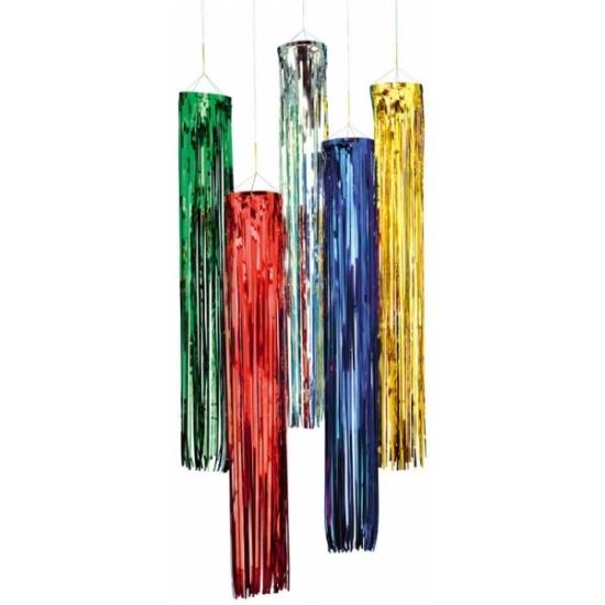 Kleuren versiering Geen Rode glimmende hanger