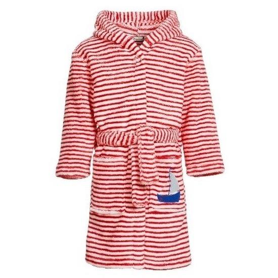 Rood-witte badjas-ochtendjas met strepen voor kinderen
