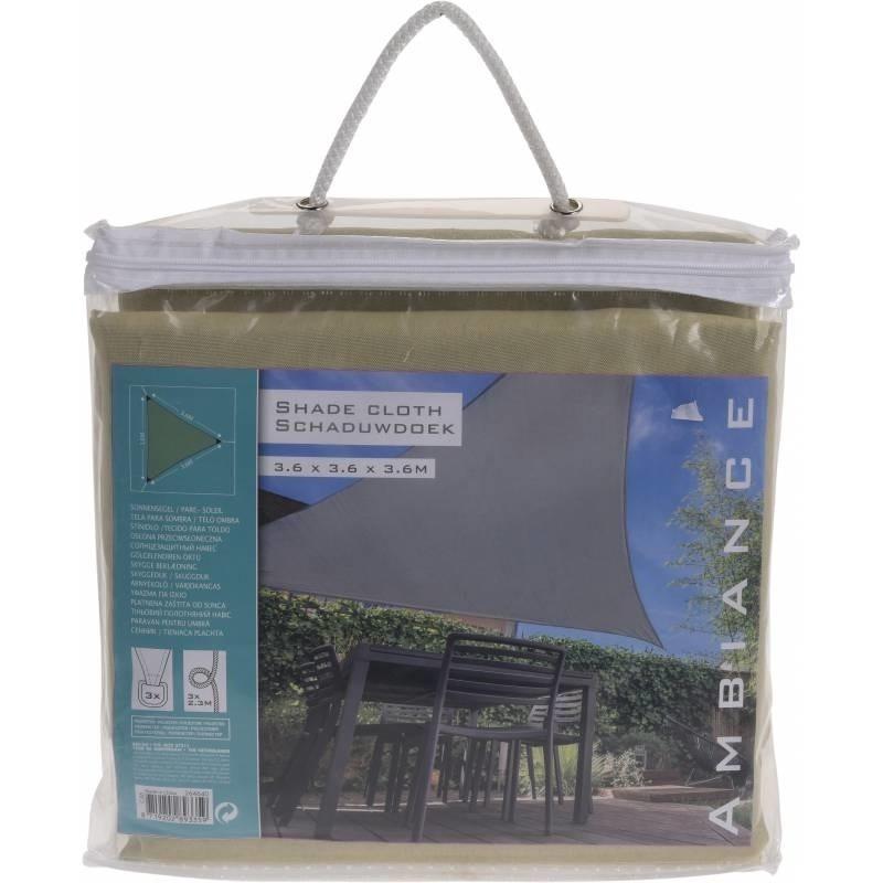 Schaduwdoek-zonnescherm driehoek groen 3,6 meter