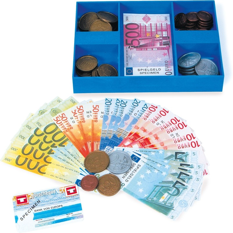 Speel munten en briefgeld