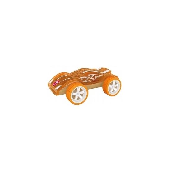 Speelgoed autootje racewagen bamboe 8 cm