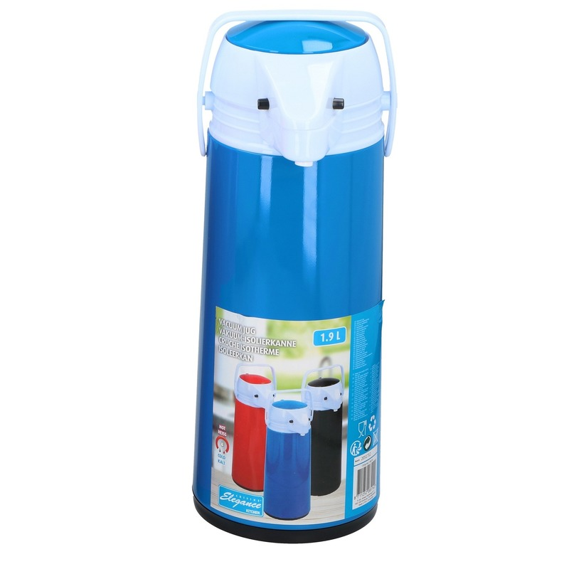 Thermoskan-isoleerkan met dispenser 1.9 liter blauw