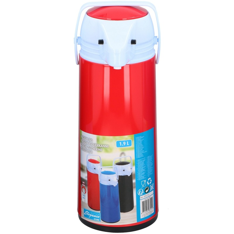 Thermoskan-isoleerkan met dispenser 1.9 liter rood