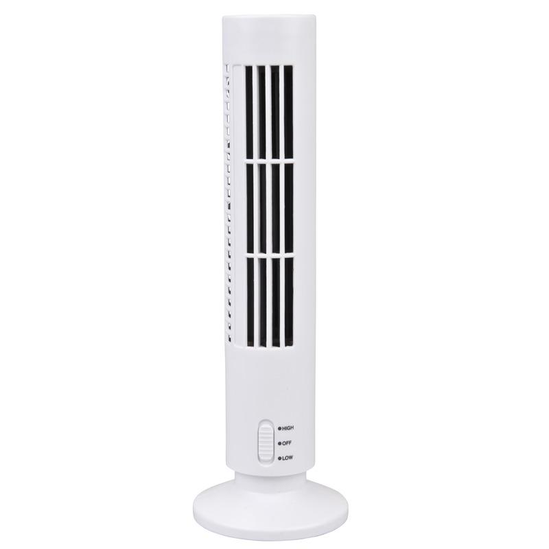 Toren ventilator wit USB 33 cm