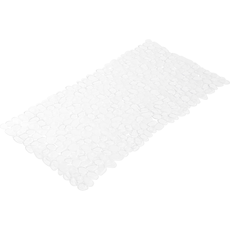 Transparante anti-slip badmat kiezelstenen patroon 35 x 70 cm