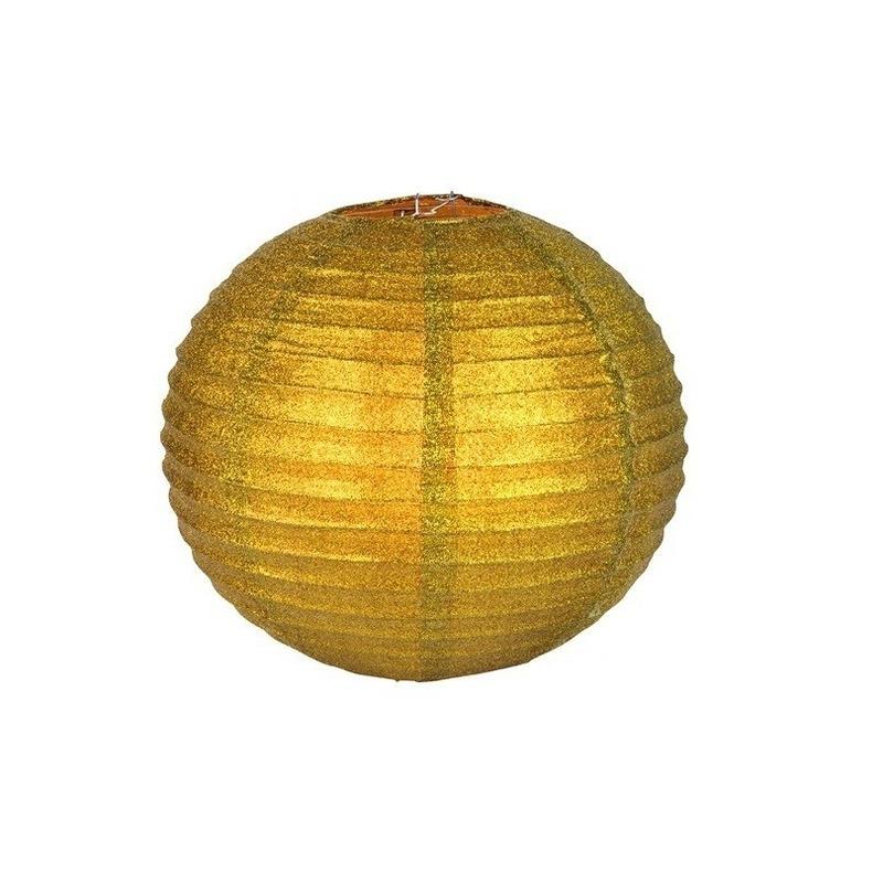 Feestartikelen diversen Geen Unieke gouden lampion met glitters