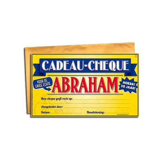 Feestartikelen diversen Geen Voor de Abraham gift cheque