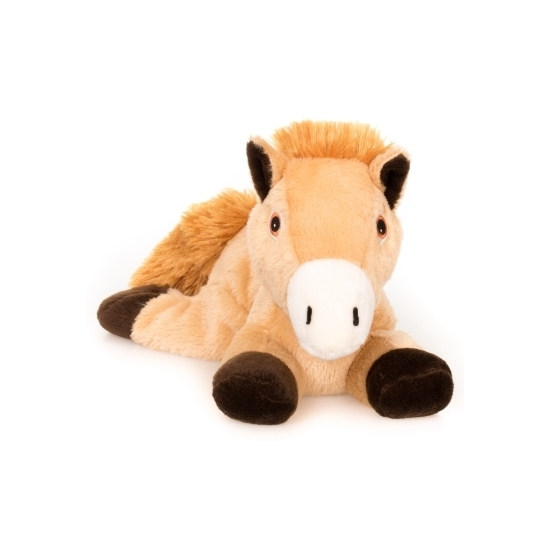 Warme knuffel kruik bruin paard boerderijdier 18 cm