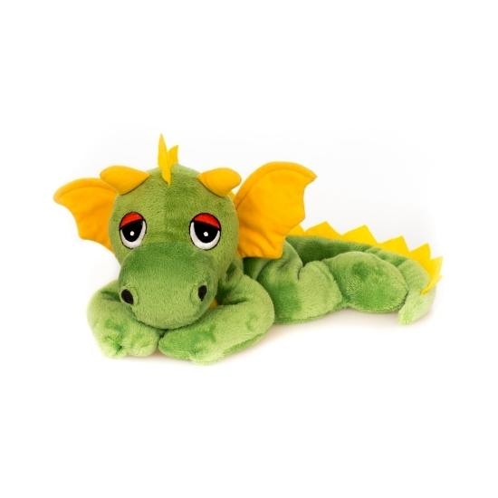 Warme knuffel kruik groen draak mystiek dier 18 cm